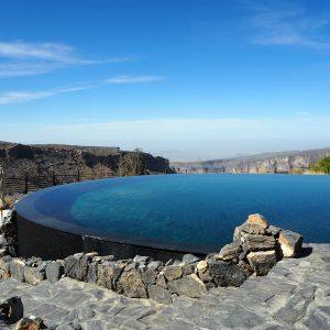 Beautiful Infinity pool at the Alila, Jebal Akhdar Mountains