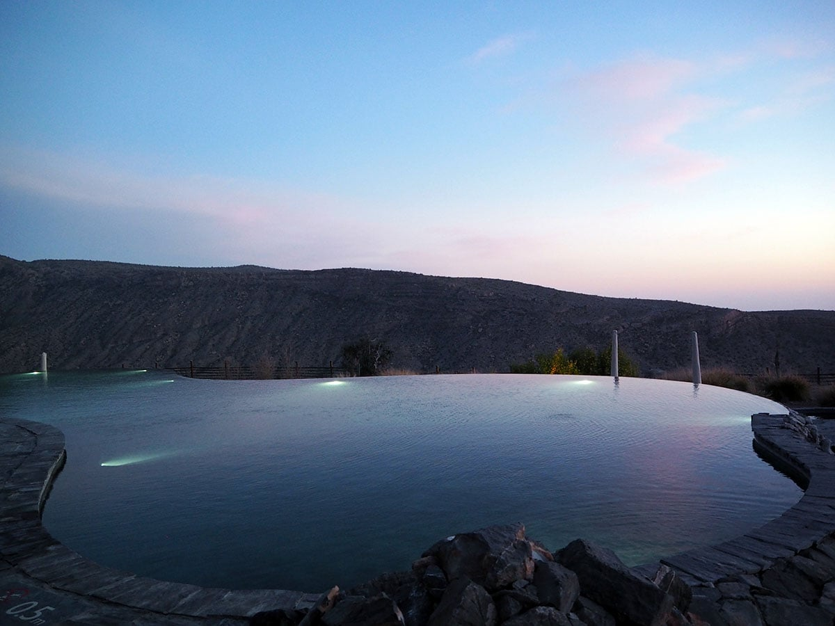 Alila Jabal Akhdar Infinity Pool Sunset