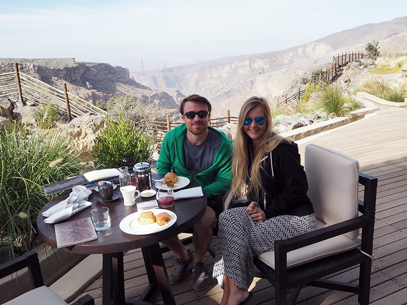 Breakfast with a view at the Alila Jebal Akhdar