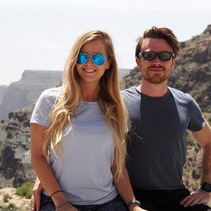 Alice and Steve at the Jabal Akhdar Mountains