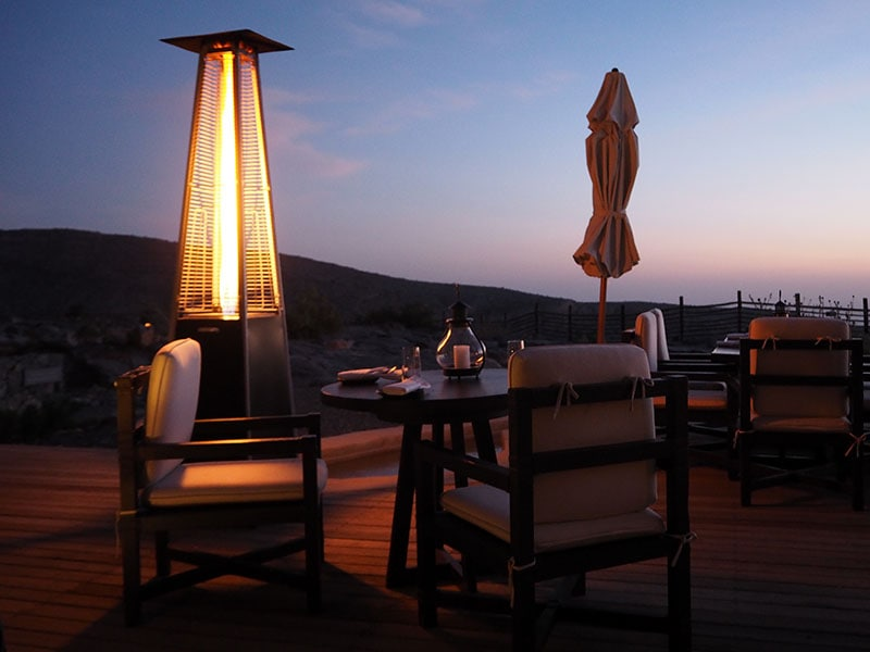 Sunset dinner at the Alila Jebal Akhdar