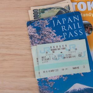 Japan Rail Pass with a rail ticket and a Tokyo city Guide