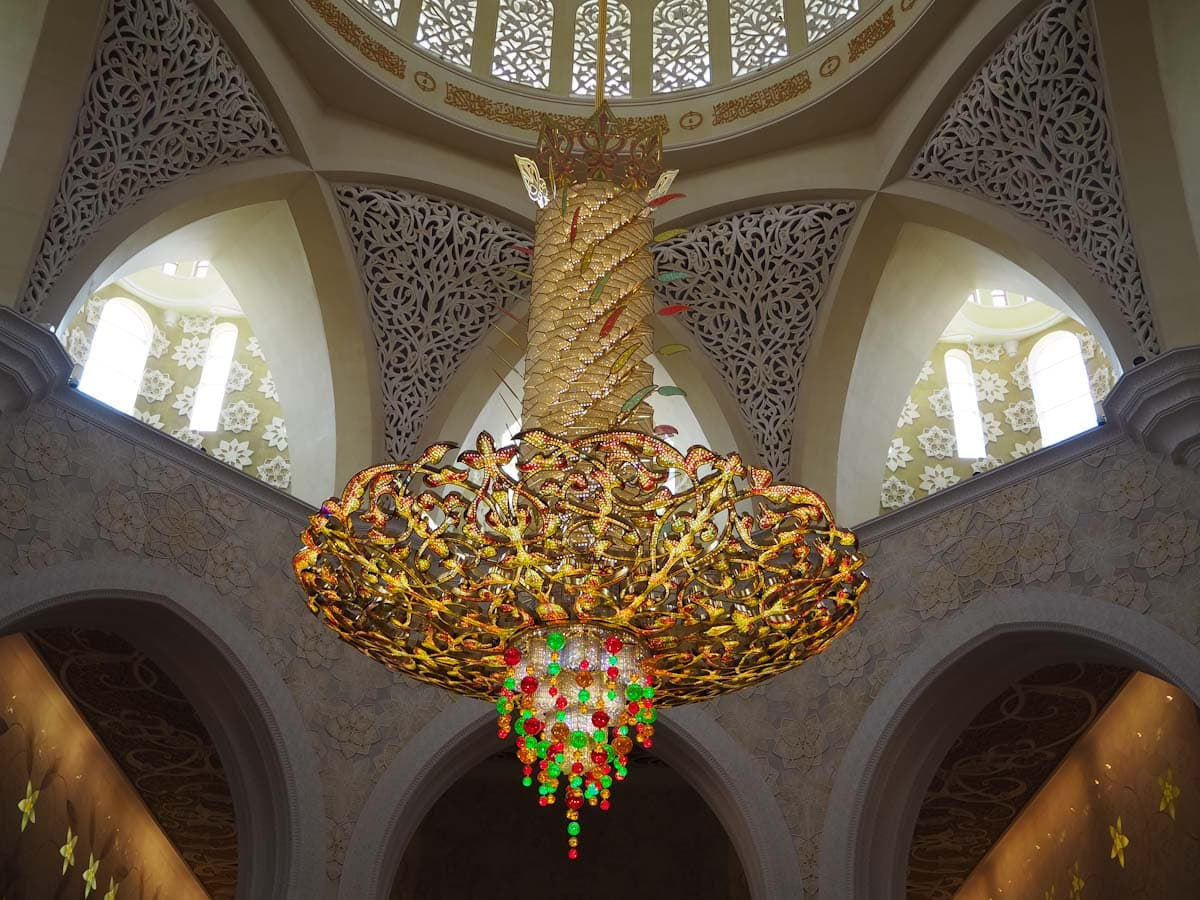 Chandelier at the Sheikh Zayed Grand Mosque The Travel Escape
