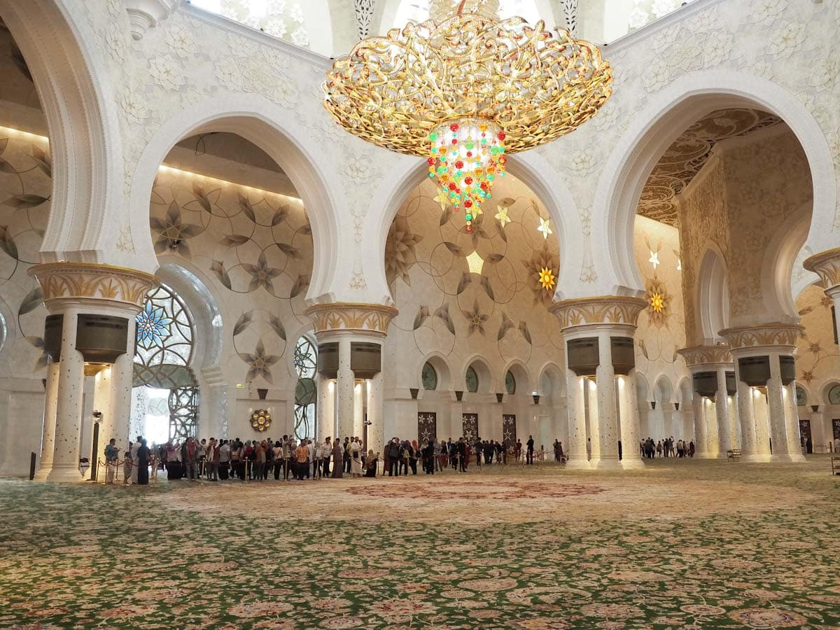 Chandelier at Sheikh Zayed Grand Mosque The Travel Escape