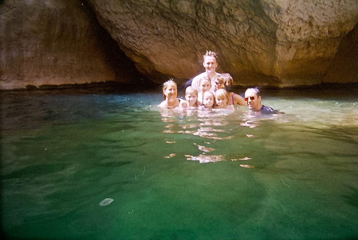 The Key Hole at Wadi Shab Oman