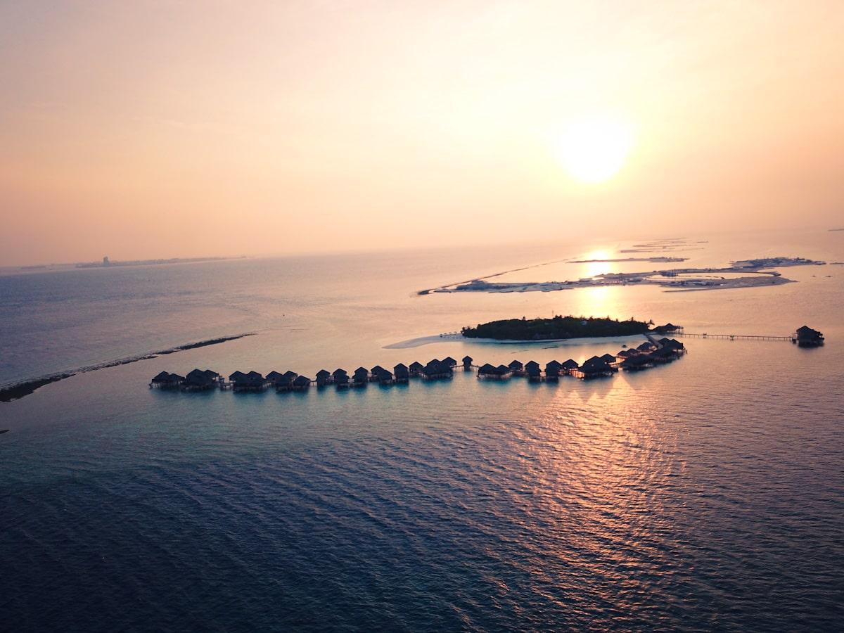 Villas at Adaaran Vadoo Maldives Drone Shot